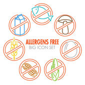 Icons for allergens free products
