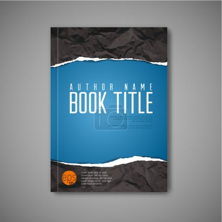 Blue book cover template