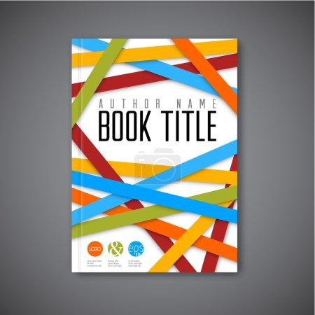 Illustration pour Brochure abstraite de Modern Vector, book, modèle de conception flyer - version allégée - image libre de droit