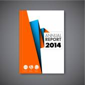 Šablona návrhu s abstraktní brožura