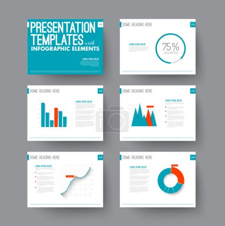 Presentation slides with graphs and charts