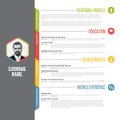 resume template design with profile photo