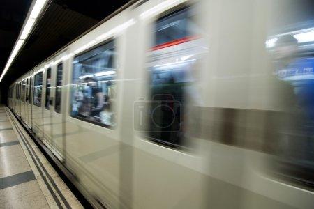interior of metro station in Barcelona