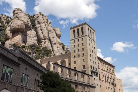 Benedictine abbey in the Montserrat mountains