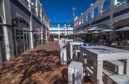 Commercial plaza in Isla del Moral