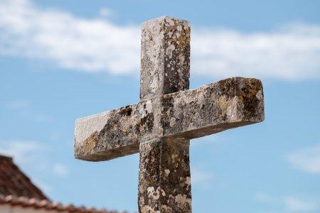 Old Christian stone cross