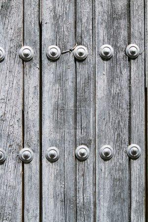 Old worn out wooden door