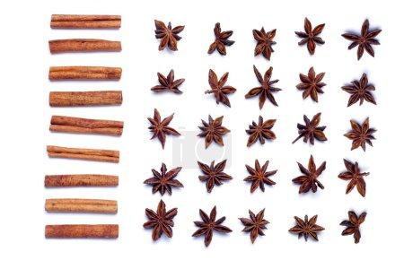 Aromatic cinnamon sticks and star anise