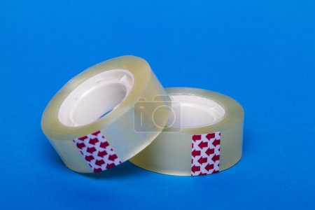 Rolls of transparent sticky tape