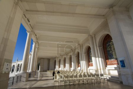 Famous holy plaza of Fatima, Portugal