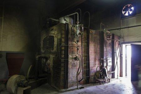 Old brick furnace