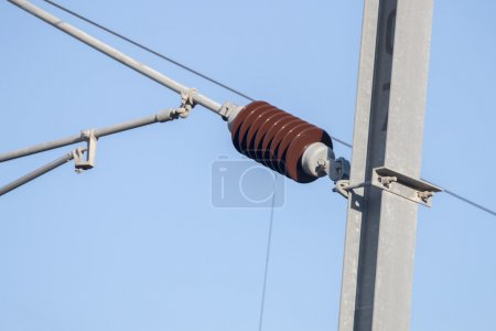 electrical wires of a train station