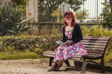 woman in vintage style clothing