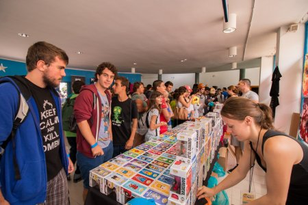 Photo for FARO, PORTUGAL - August 22: Manga & Comic Event, gathers many fans of these genres, including anime shows, cosplayers, gamers, concerts, board games, workshops and contests, among several other stuff held on Faro city, Portugal on August 22nd and 23r - Royalty Free Image