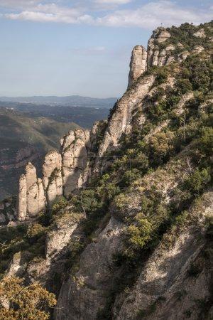 beautiful mountains of Montserrat