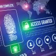 Security technology and ID verification concept an...
