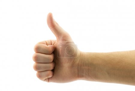male hand with thumb up