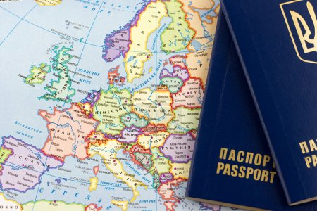 map with Ukrainian passports