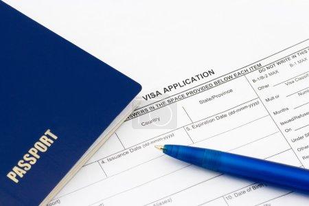 blank of visa application