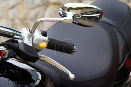 Motorcycle handle with switches