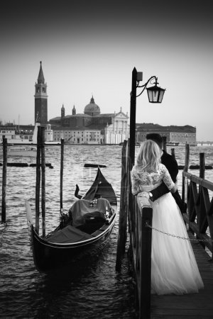 Just Married in Venice.