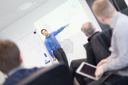 Presentación del negocio en reuniones corporativas