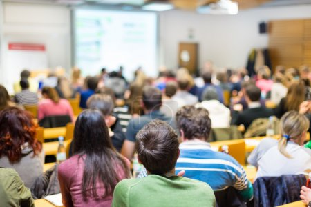Workshop at university lecture hall.