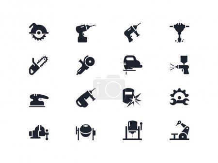 Electric work tools icons. Lyra series
