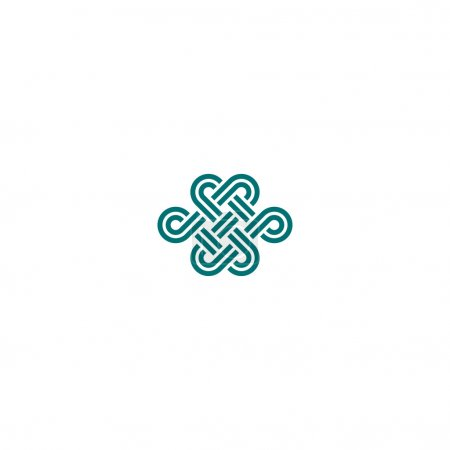 Infinite knot symbol on white