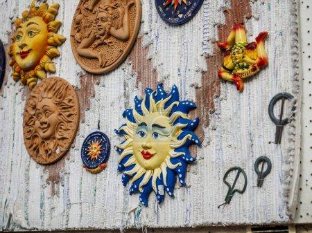 Photo for A ceramic trinacria, symbol or emblem of Sicily. - Royalty Free Image