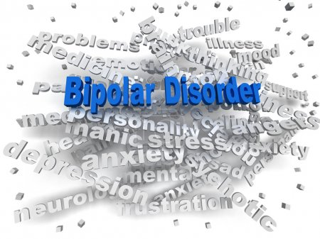 Photo for 3d image Bipolar disorder issues concept word cloud background - Royalty Free Image