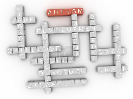 Photo for 3d image Autism concept word cloud background - Royalty Free Image