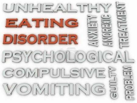 Photo for 3d image Eating disorder word cloud concept - Royalty Free Image