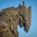 Wooden giant trojan horse in Cannakalle - Turkey t...