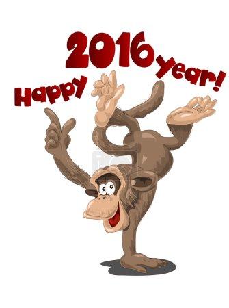 Funny monkey symbol of 2016