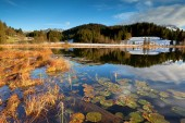 Alps and Geroldsee lake in autumn