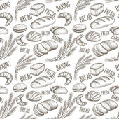 The baking  vintage seamless pattern hand drawn