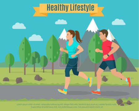 Healthy lifestyle illustration .