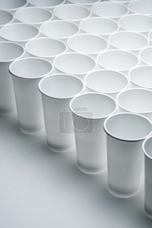 Disposable cups view
