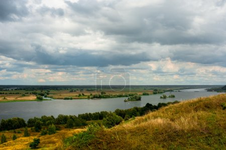 Beautiful landscape in Konstantinovo, Russia - the birthplace of russian poet Sergei Yesenin