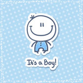 Its a boy vector hand drawn baby boy with text