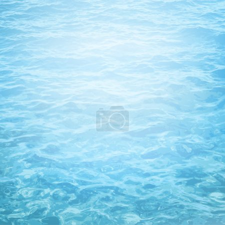 Illustration for Realistic vector background of sea water with ripple - Royalty Free Image