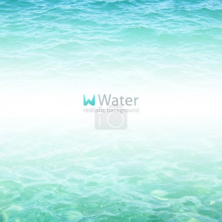 Illustration for Vector realistic water background in turquoise color - Royalty Free Image