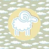 RAM symbol kruhu mraky podtisku lineární