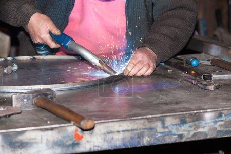 Welded steel iron