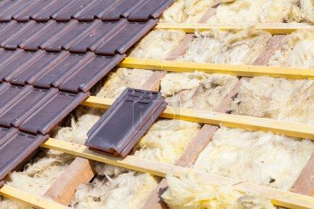 Renovation of a brick roof