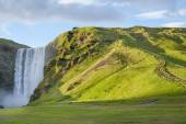 The Skogafoss waterfall in the south of Iceland