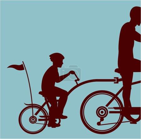 Illustration pour Fichier eps vecteur vélo copilote - image libre de droit