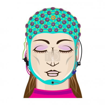 EEG device Mind reading scanning Brain signals Female