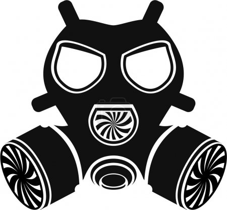 Illustration for Gas mask vector - Royalty Free Image